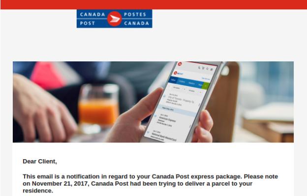 Canada Post Scam