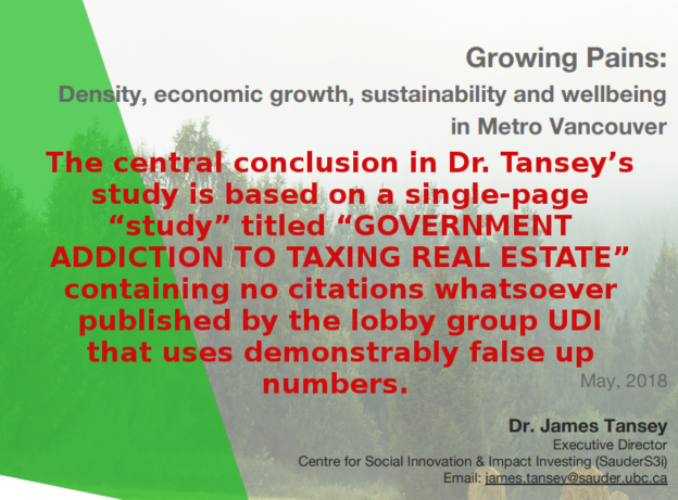 UBC report blaming red tape for housing crisis is based on lobby group report containing demonstrably false numbers